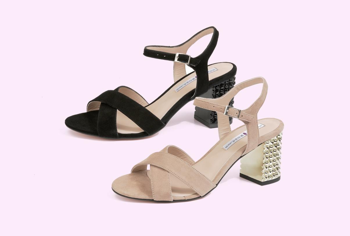 sandalias con tacón para mujer de Sandra Stylo