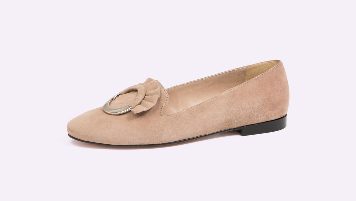 zapatos mocasín para señora fabricados por Sandra Stylo