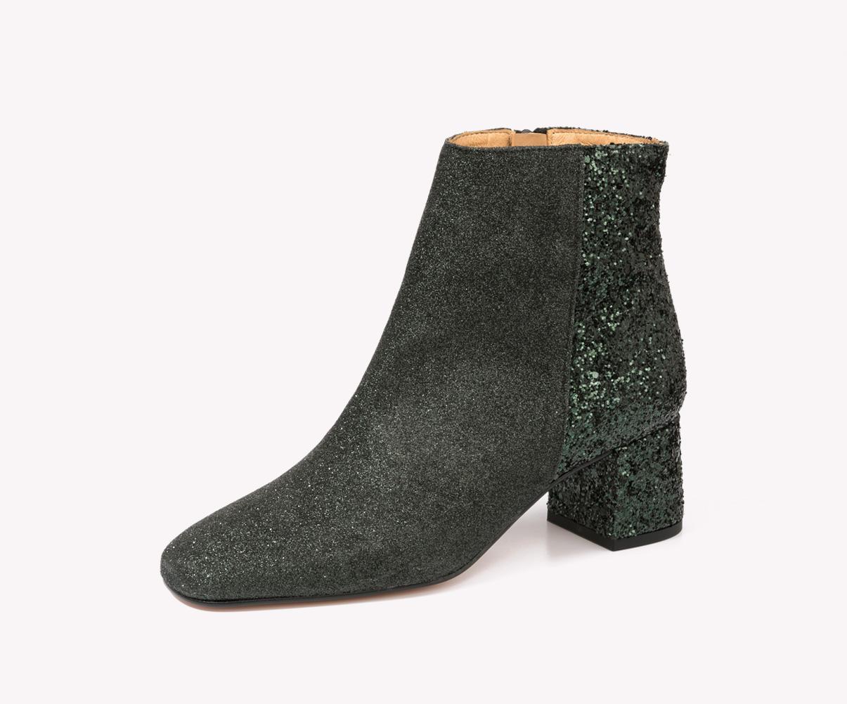 zapatos tipo botín con tacón de la fábrica de zapatos Sandra Stylo
