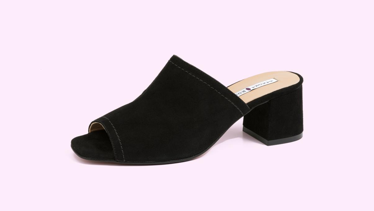 zuecos con tacón de la fábrica de zapatos Sandra Stylo